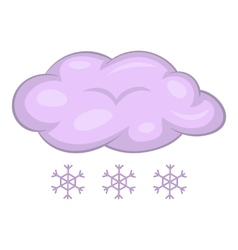 Snow with cloud icon cartoon style vector