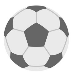 soccer ball icon isolated vector image