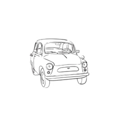 Soviet old-timer car vector image