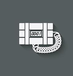 terrorist bomb symbol vector image vector image