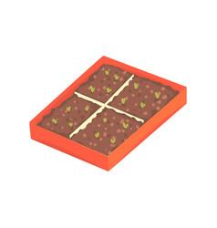 tray of plants seedlings cartoon vector image