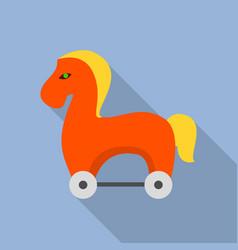 trojan horse icon flat style vector image
