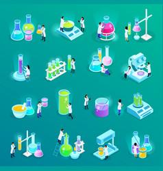 vaccines development isometric icons vector image