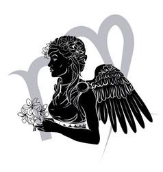Virgo zodiac horoscope astrology sign vector