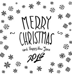 We wish You a Merry Christmas - calligraphy vector image