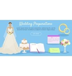 Wedding Preparations Web Banner vector image