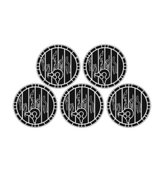 Wine barrels icon in black style isolated on white vector