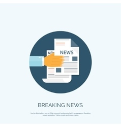 With flat newspapers news vector