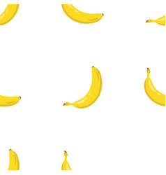 Yellow banana seamless pattern sweet tropical vector