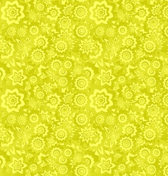 Yellow seamless floral pattern background vector