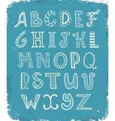 Zentagle alphabet vector