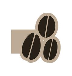 black contour grains coffee icon vector image vector image