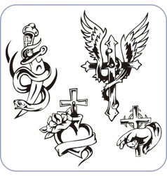 Christian symbols - vector image vector image