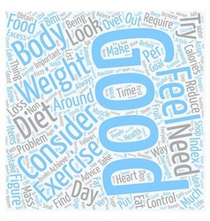 Control your Weight and Feel the Improvement text vector image vector image
