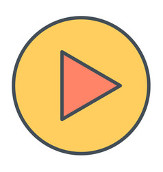 play button line icon vector image