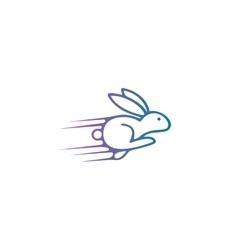 Rabbit logo design template Hare vector image vector image