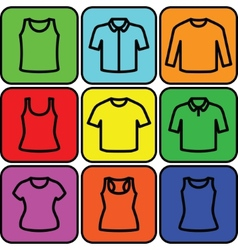 Set of t-shirts icon vector image