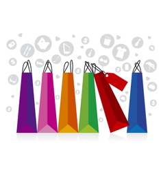 Shopping Display vector image vector image