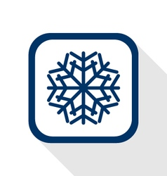 Snow flake flat icon vector