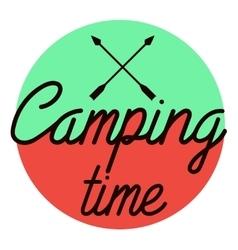 Color vintage Camping emblem vector image