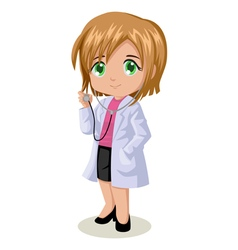 Cute cartoon of a doctor vector image vector image