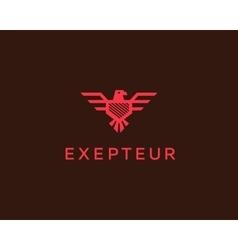 Eagle logotype Falcon shield logo design vector image vector image