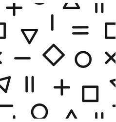 geometric memphis pattern - seamless background vector image