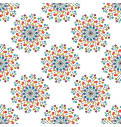 Seamless pattern of colored squares vector image