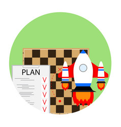 strategy start business vector image vector image