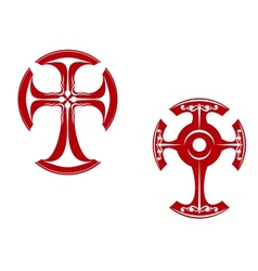 Two stylized crosses vector image