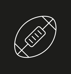 american football ball icon on black background vector image