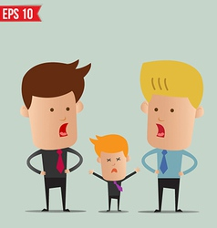 Business man discussion - - EPS10 vector image vector image
