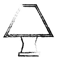 elegant table lamp icon vector image vector image