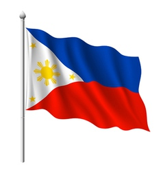 Flag of Philippines vector image