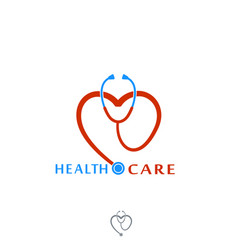 health care icon logo tonometer with heart vector image vector image