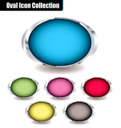 oval collection vector image vector image
