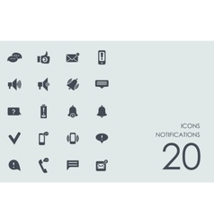 Set of notifications icons vector image vector image