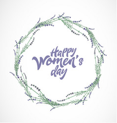women s day typographical design element vector image vector image