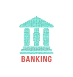 green banking icon from different points vector image