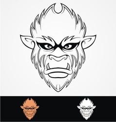 Monkey Head Tribal vector image