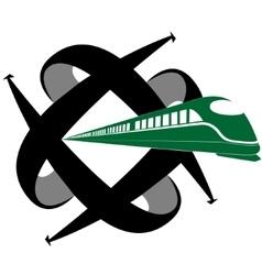Rail transport vector image vector image