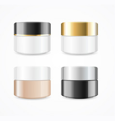 realistic cream can cosmetic product set vector image vector image