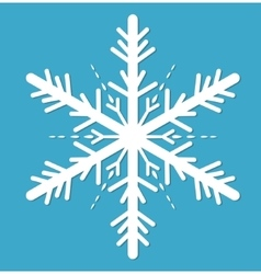 Snowflake icon flat style design elements vector image