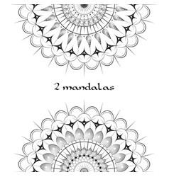 2 beautiful mandala images vector