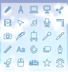 25 art design icons set vector image vector image