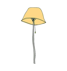 A lamp stand on vector