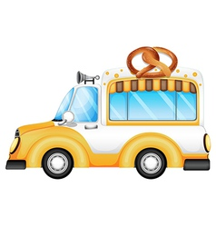 A vehicle selling bread vector image
