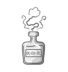 A vial of green potionmedicines for diabetics vector