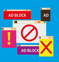 ad block popup symbol color promotion vector image