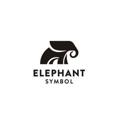 African elephant logo - design vector